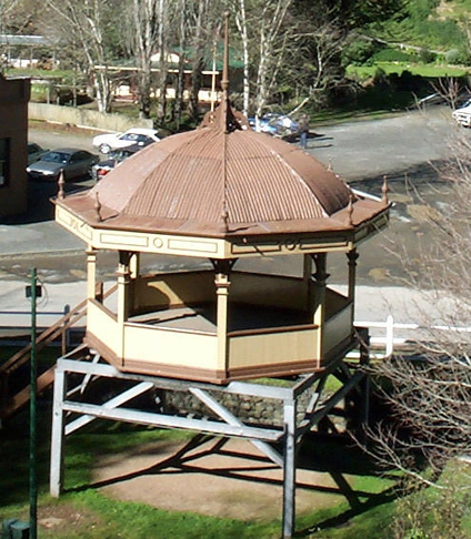 Walhalla's historic Mountaineer Brass Band rotunda