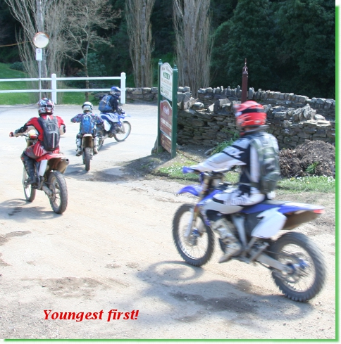 Kiddy trail-bikers